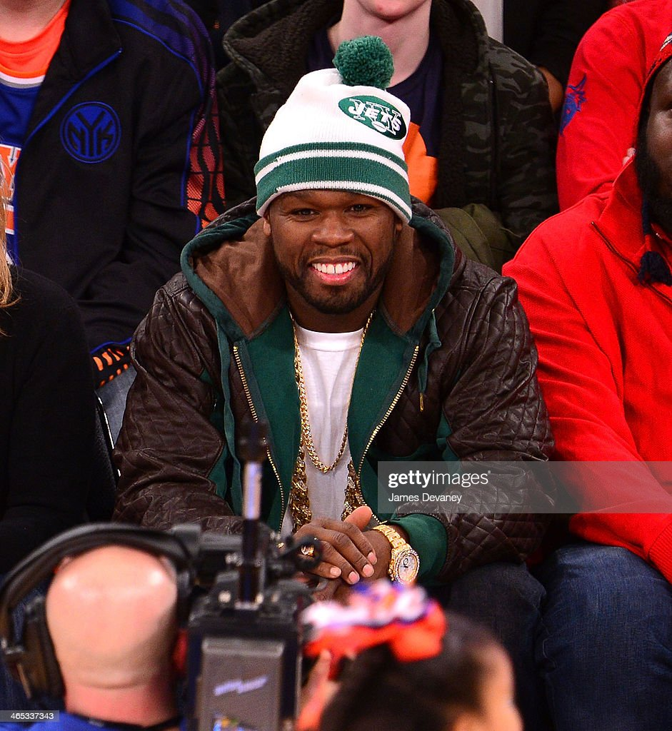 <a gi-track='captionPersonalityLinkClicked' href=/galleries/search?phrase=50+Cent+-+Rapper&family=editorial&specificpeople=215363 ng-click='$event.stopPropagation()'>50 Cent</a> attends the Los Angeles Lakers vs New York Knicks game at Madison Square Garden on January 26, 2014 in New York City.