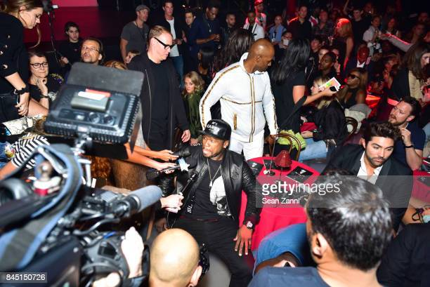 Cent attends the Philipp Plein fashion show during New York Fashion Week The Shows at Hammerstein Ballroom on September 9 2017 in New York City