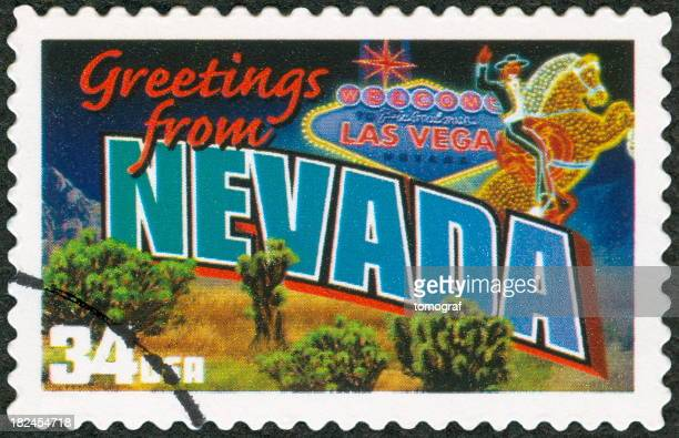 A 34 cent Las Vegas Nevada postage stamp