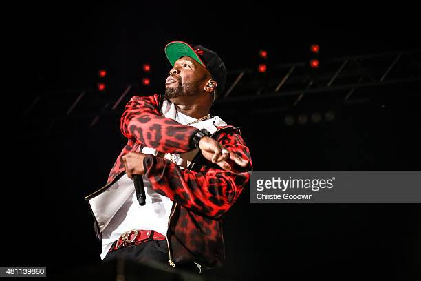 Cent performs at The O2 Arena on July 17 2015 in London England