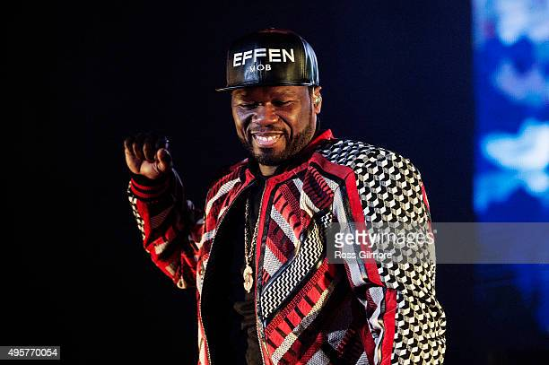 Cent performs at The SSE Hydro on November 4 2015 in Glasgow Scotland