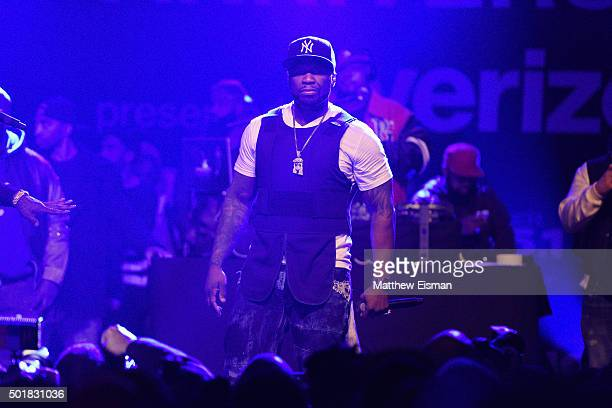 Cent performs onstage at the Power1051 Breakfast Club Anniversary party presented by Verizon on December 17 2015 in New York City