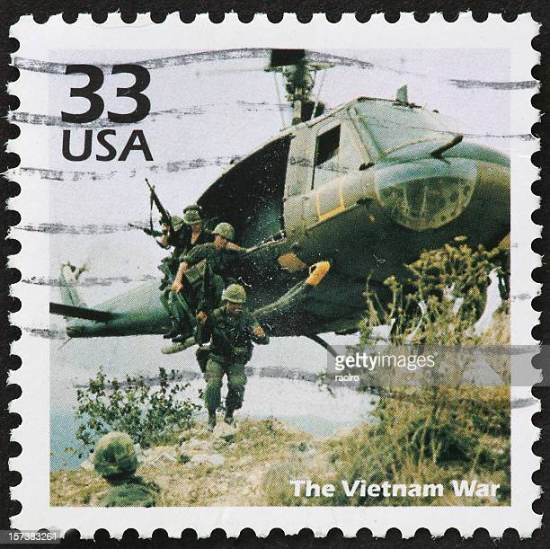 USA 33 cent postal stamp image of Vietnam War