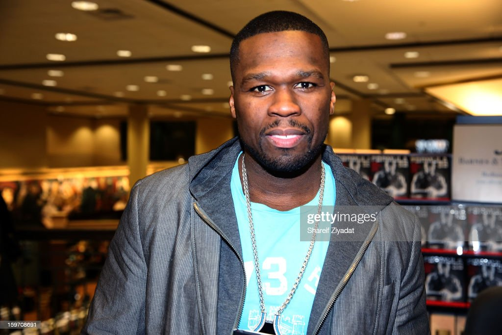 50 Cent promotes the new book 'Formula 50: A 6-Week Workout and Nutrition Plan That Will Transform Your Life' at Barnes & Noble on January 18, 2013 in Clifton, New Jersey.