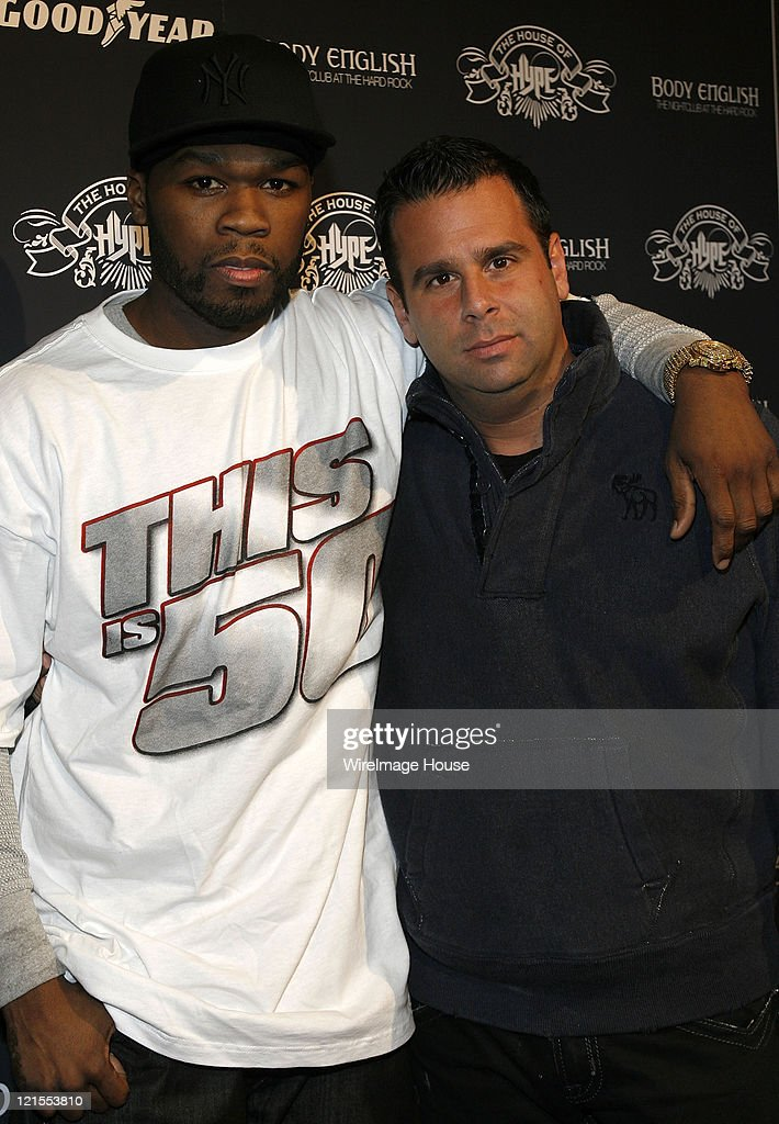 50 Cent, Randall Emmett, and Chris Lighty announce production company at Hard Rock's Rehab at House of Hype on January 19, 2008 in Park City, Utah.