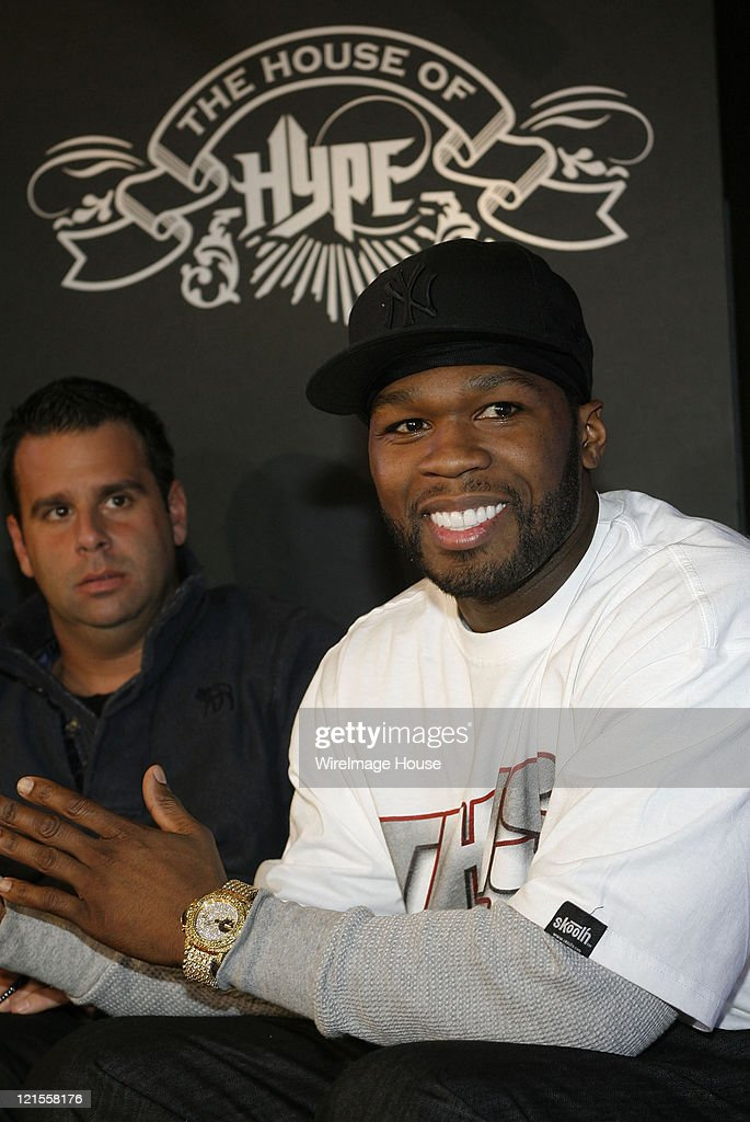 50 Cent, Randall Emmett and Chris Lighty announce production company at Hard Rock's Rehab at House of Hype on January 19, 2008 in Park City, Utah.