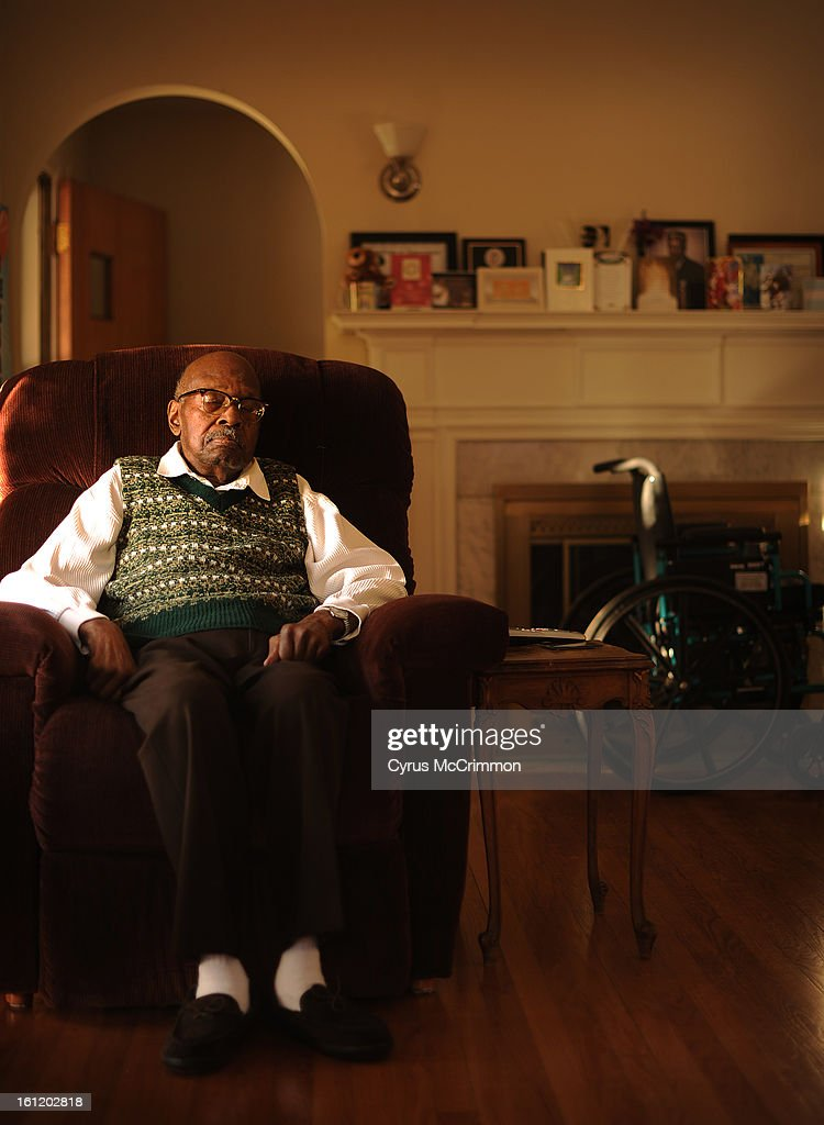Centenarian George Gray Jr. turned 100 earlier this year. He naps in his favorite chair at his Park Hill home on Thursday, December 29, 2011. Cyrus McCrimmon, The Denver Post