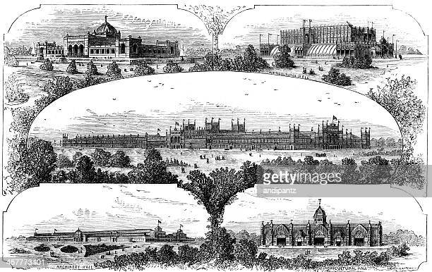 Centennial Exposition Buildings in Philadelphia