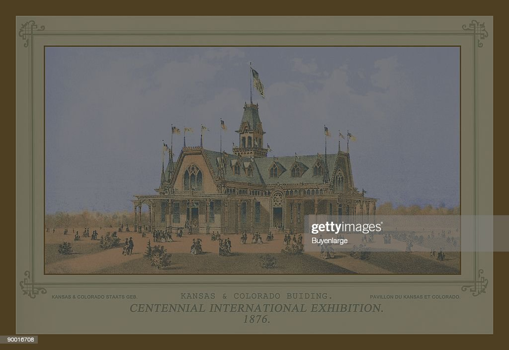 Centennial International Exhibition 1876 Kansas and Colorado Building