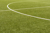 artificial soccer field in detail