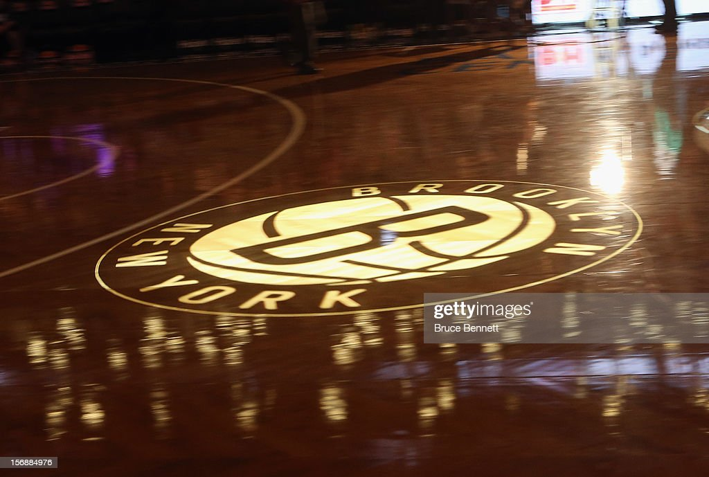 Center court sports a projected Brooklyn Nets logo prior to the game against the Los Angeles Clippers at the Barclays Center on November 23, 2012 in the Brooklyn borough of New York City.