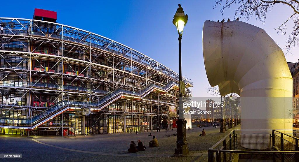 Center Georges Pompidou at night, Paris , France
