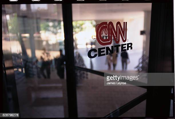 CNN Center Logo on Window