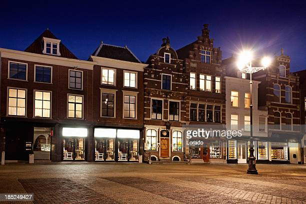 center of Delft  in the night time, Netherlands
