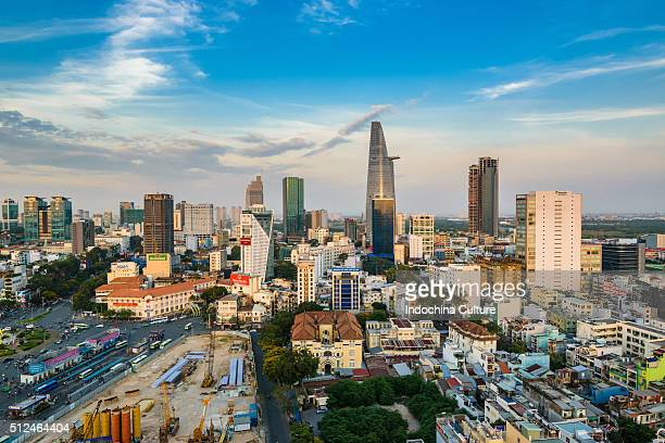 Center of Ho Chi Minh city in the beautiful evening