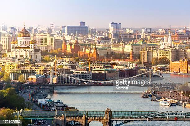 Stadtzentrum von Moskau im sonnigen Tag