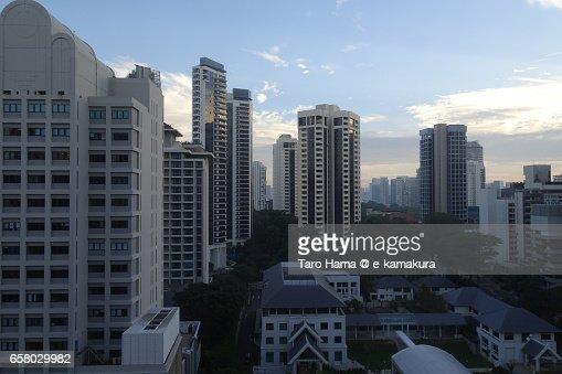 Center of the city in Singapore : ストックフォト