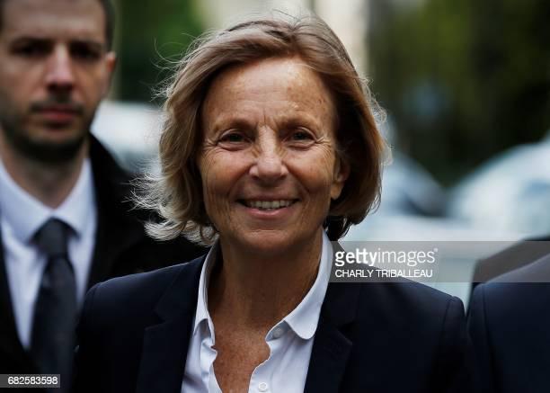 Center right MoDem party's vicepresident Marielle de Sarnez arrives during an information day for La Republique En Marche party candidates for the...