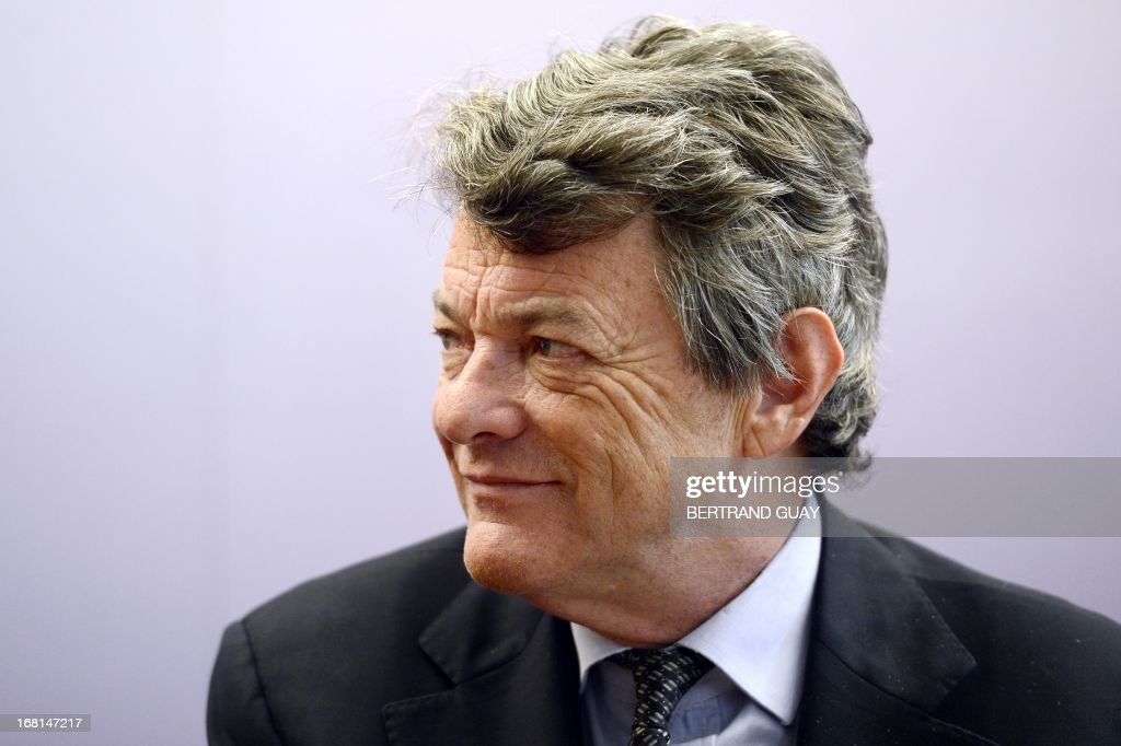 UDI center right wing French party's president Jean-Louis Borloo gives a press conference on May 6, 2013, focused on the first anniversary of the Francois Hollande's presidency.