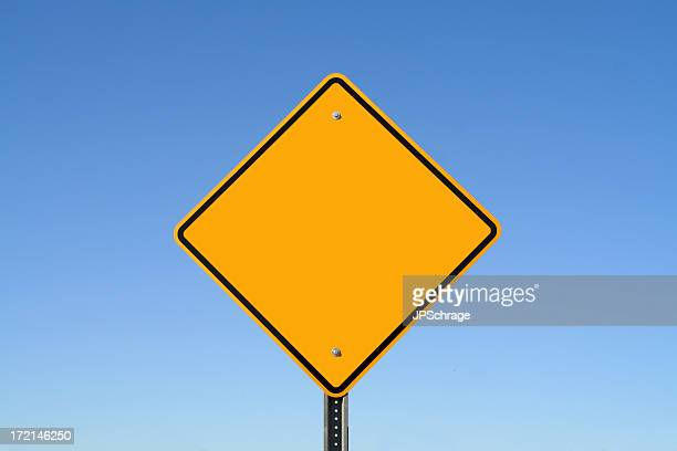 Centered Blank Yellow Sign