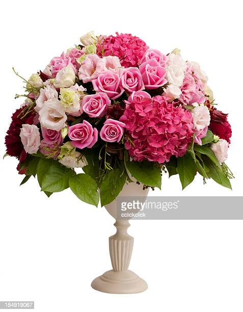 Centerpiece with flowers and vase