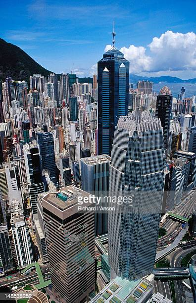 Central and Sheung Wan from Two International Finance Centre building.