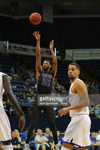Central Arkansas Bears guard Derreck Brooks shoots the ball during a game between Central Arkansas and New Orleans on February 18 2017 at Lakefront...