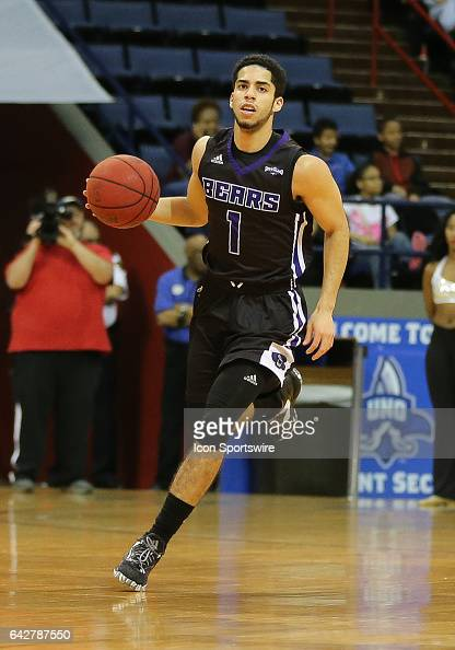 Central Arkansas Bears guard Jordan Howard dribbles the ball during a game between Central Arkansas and New Orleans on February 18 2017 at Lakefront...
