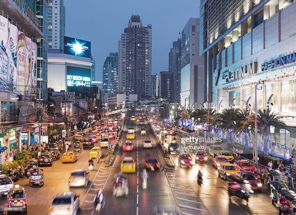 Central Bangkok, Busy road at night