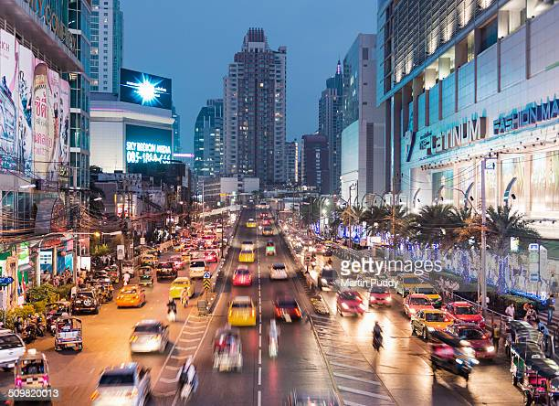 Central Bangkok, Busy road at night