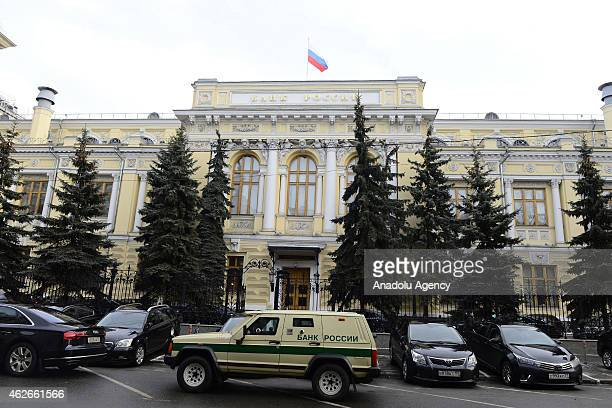 Central Bank of Russia is seen in Moscow Russia on February 2 2015 In Russia an economic crisis caused by structural problems a fall in the price of...