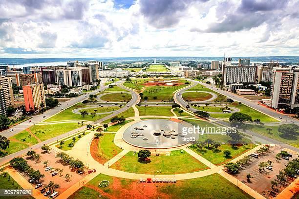 A Central de Brasília vista de torre de televisão