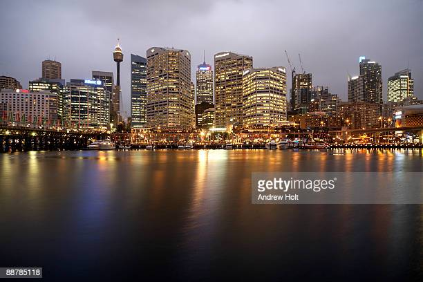 Central Business District at night, Sydney.