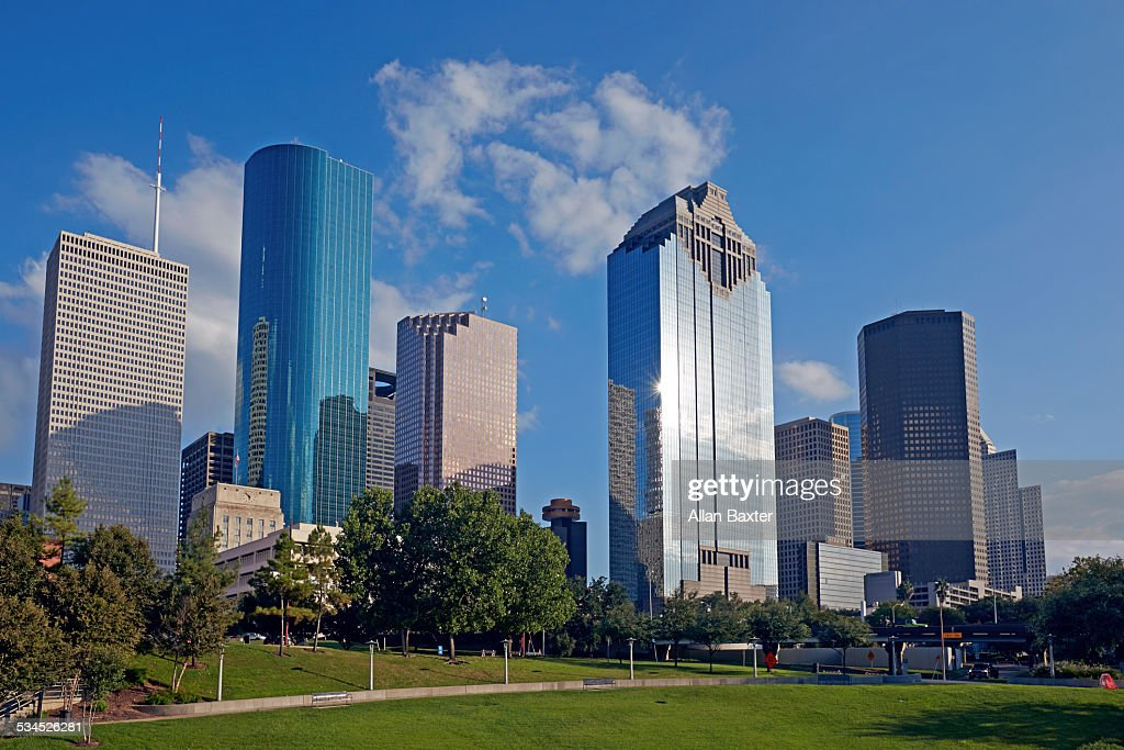 Central business district in Downtown Houston