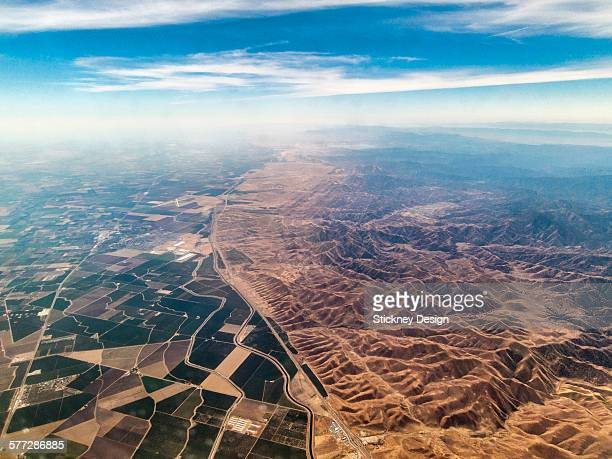 Central California valley aerial freeways canals