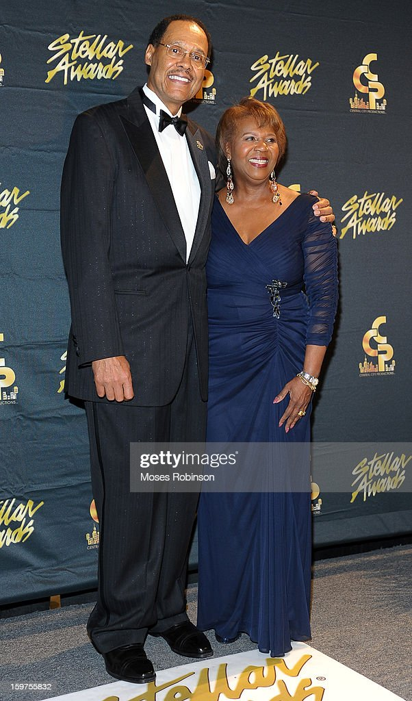Central City Productions Chairman & CEO Don Jackson and Central City Productions President & COO Erma Davis attend the 28th Annual Stellar Awards at Grand Ole Opry House on January 19, 2013 in Nashville, Tennessee.