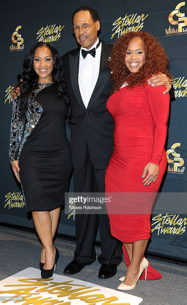 Central City Productions Chairman & CEO Don Jackson (center) and Mary Mary attend the 28th Annual Stellar Awards at Grand Ole Opry House on January 19, 2013 in Nashville, Tennessee.