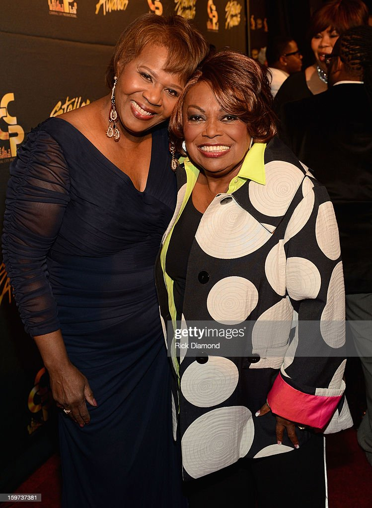 Central City Productions COO Erma Davis and Dorothy Norwood arrive at the 28th Annual Stellar Awards at Grand Ole Opry House on January 19, 2013 in Nashville, Tennessee.