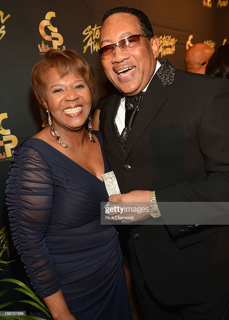 Central City Productions COO Erma Davis and Dr. Bobby Jones arrive at the 28th Annual Stellar Awards at Grand Ole Opry House on January 19, 2013 in Nashville, Tennessee.
