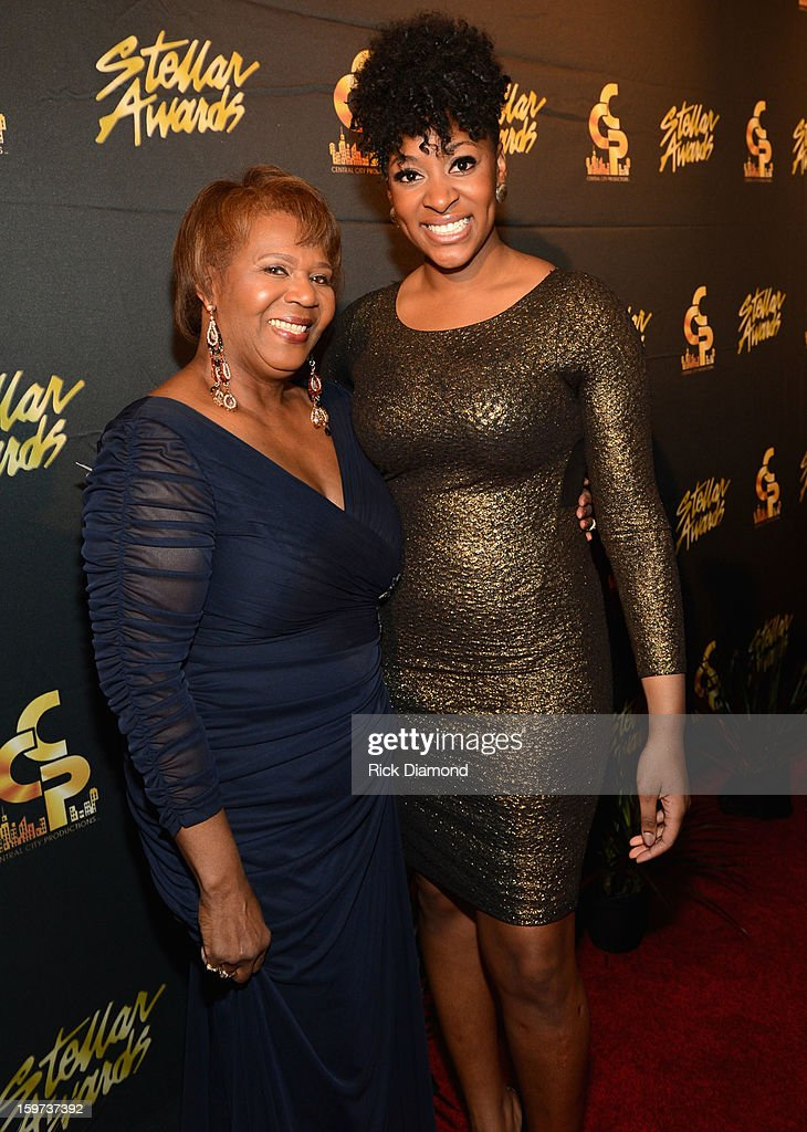 Central City Productions COO Erma Davis and Jessica Reedy arrive at the 28th Annual Stellar Awards at Grand Ole Opry House on January 19, 2013 in Nashville, Tennessee.
