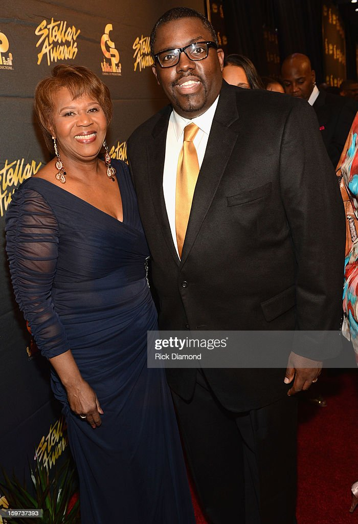 Central City Productions COO Erma Davis and Williams McDowell arrive at the 28th Annual Stellar Awards at Grand Ole Opry House on January 19, 2013 in Nashville, Tennessee.