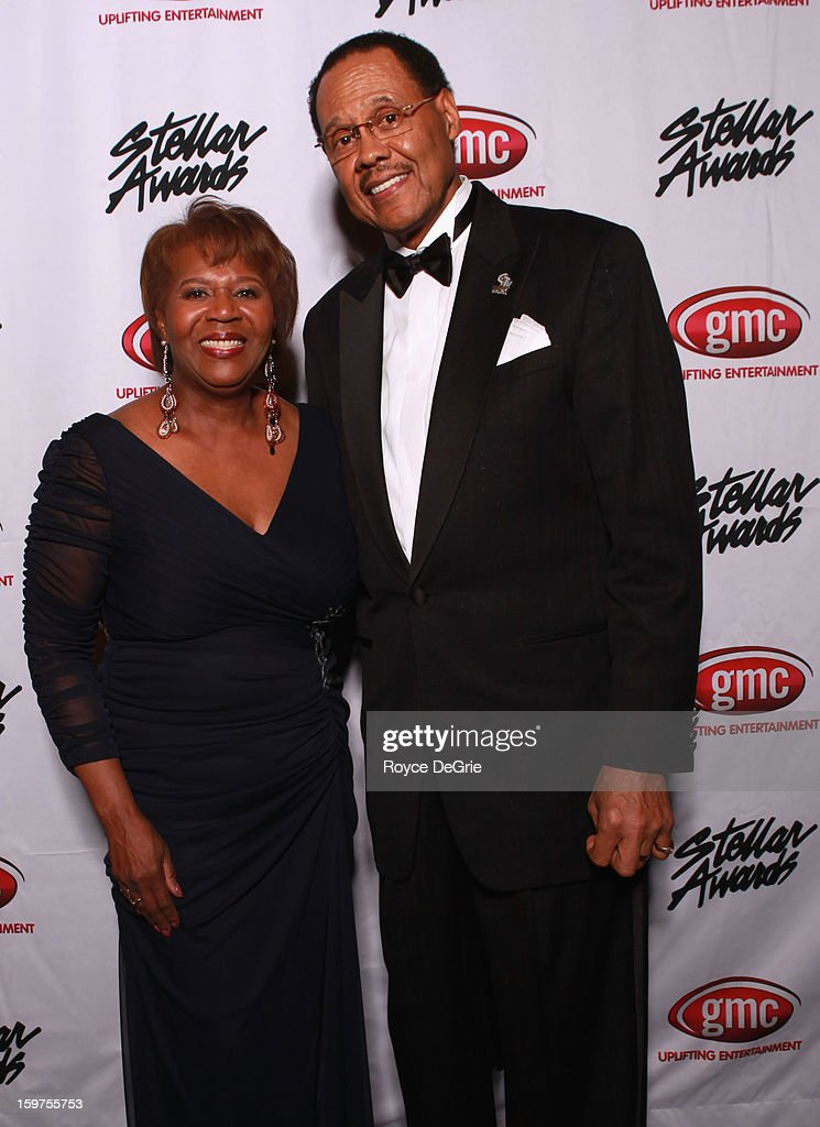Central City Productions President & COO Erma Davis and Central City Productions Chairman & CEO Don Jackson attend the 28th Annual Stellar Awards at Grand Ole Opry House on January 19, 2013 in Nashville, Tennessee.