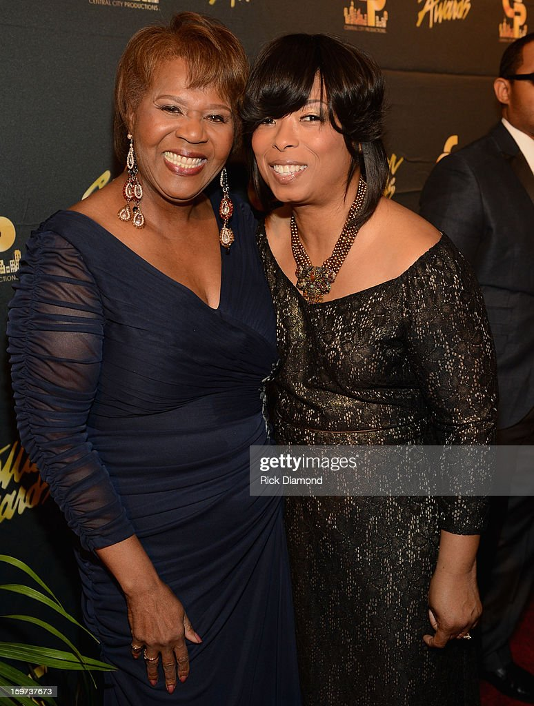 Central City Productions President & COO Erma Davis and Maurette Clark arrive at the 28th Annual Stellar Awards Red Carpet at Grand Ole Opry House on January 19, 2013 in Nashville, Tennessee.