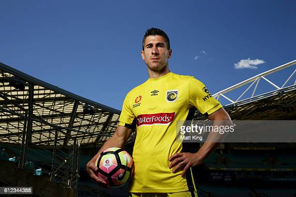 Central Coast Mariners captain Nick Montgomery poses during the 2016/17 ALeague Season Launch at ANZ Stadium on October 4 2016 in Sydney Australia