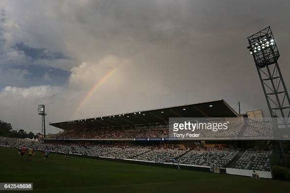 Central Coast Stadium during the NRL Trial match between the Manly Warringah Sea Eagles and Sydney Roosters at Central Coast Stadium on February 18...