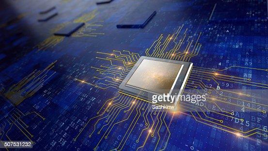 Central Computer Processor : Stock Photo