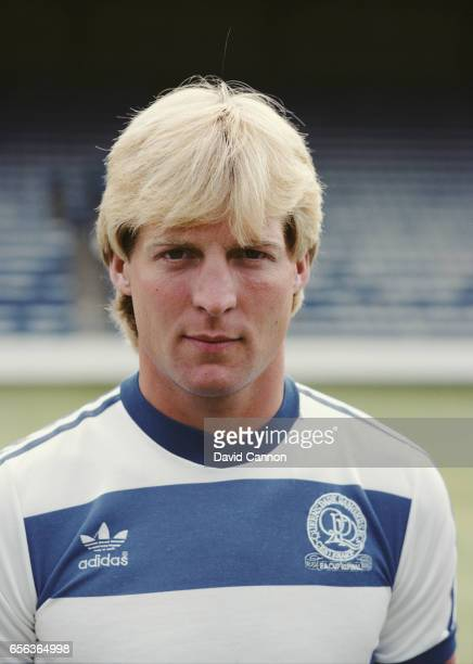 QPR central defender Steve Wicks pictured pre season circa 1983 at Loftus Road in London England