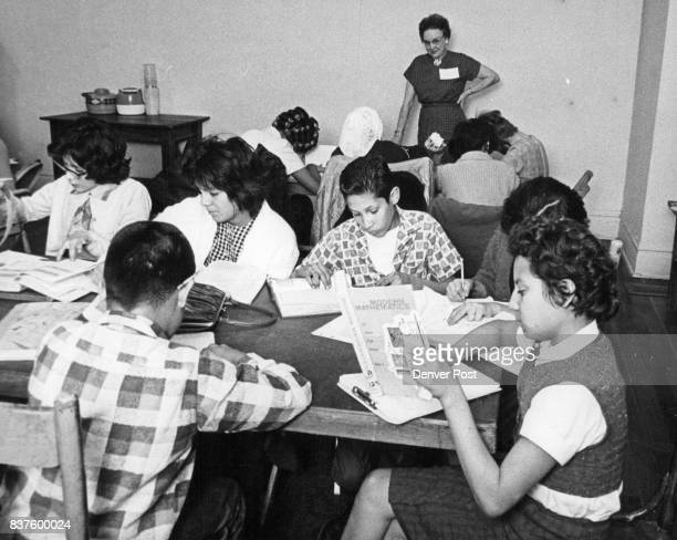 Central Denver Study Hall Is Used By School Pupils For Homework Pupils under supervision of Mrs R E Duncan 2142 S Gilpin St do schoolwork They are...