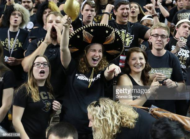 Central Florida fans cheer as Illinois visits during an NIT Tournament quarterfinal at CFE Arena in Orlando Fla on Wednesday March 22 2017