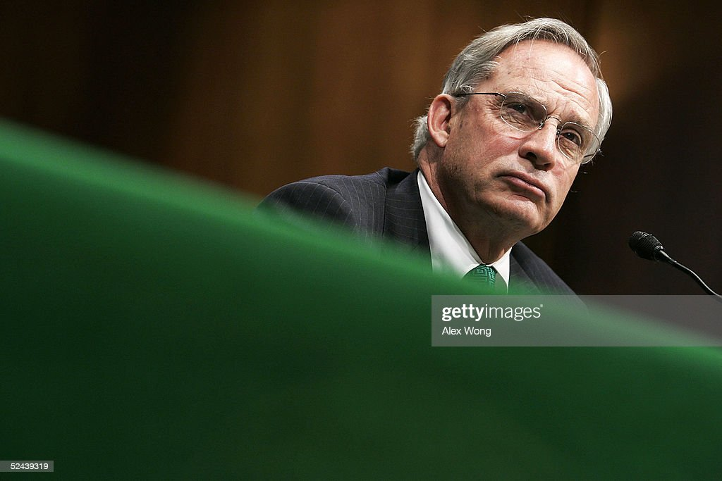 Central Intelligence Agency Director Porter Goss listens to questions as he testifies during a hearing before the Senate Armed Services Committee on...
